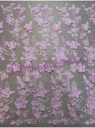Гипюр 3d большие цветы