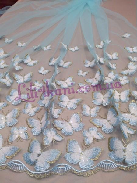 """Гипюр вышивка на евросетке """"Бабочки"""""""