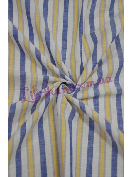 Лен в желто-голубую полоску