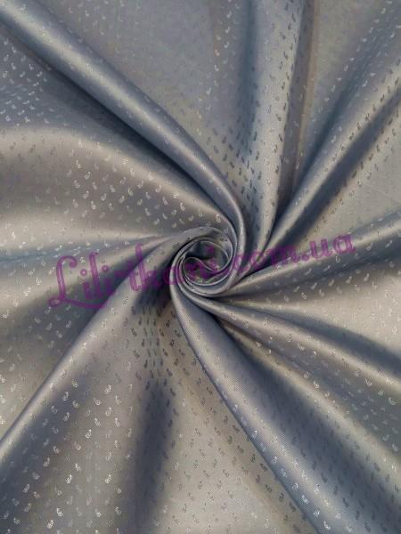 Подкладка жаккардовая серо-голубого цвета