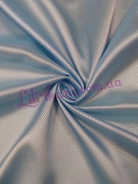 Подкладка жаккардовая голубого цвета