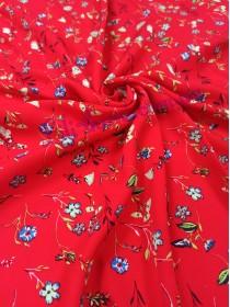 Штапель красный в полевые цветы