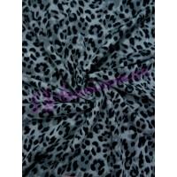 Трикотаж серый леопард